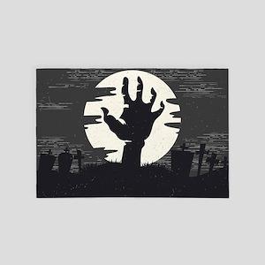 Halloween Scene Zombie 4' x 6' Rug