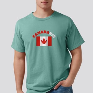 CANADABIS GIFT RED AND WHITE LETTERS T-Shirt