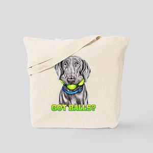 Weimaraner Got Balls? Tote Bag