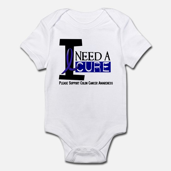 I Need A Cure COLON CANCER Infant Bodysuit