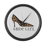 shoe girl Large Wall Clock