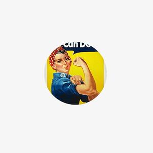 Vintage Rosie the Riveter Mini Button