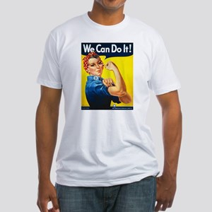 Vintage Rosie the Riveter Fitted T-Shirt