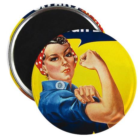 "Vintage Rosie the Riveter 2.25"" Magnet (100 pack)"