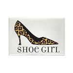 shoe girl Rectangle Magnet (100 pack)