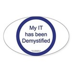 Demystified Oval Sticker