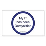 Demystified Rectangle Sticker