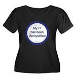 Demystified Women's Plus Size Scoop Neck Dark T-Sh