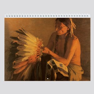 Vintage Native American Wall Calendar