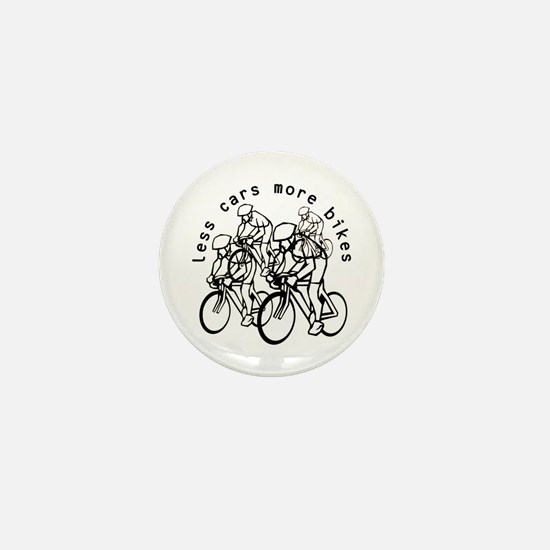 Less cars more bikes v2 Mini Button