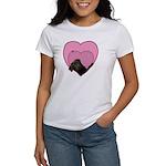 Chocolate Lab Heart Dog Women's T-Shirt