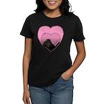 Chocolate Lab Heart Dog Women's Dark T-Shirt