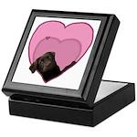 Chocolate Lab Heart Dog Keepsake Box