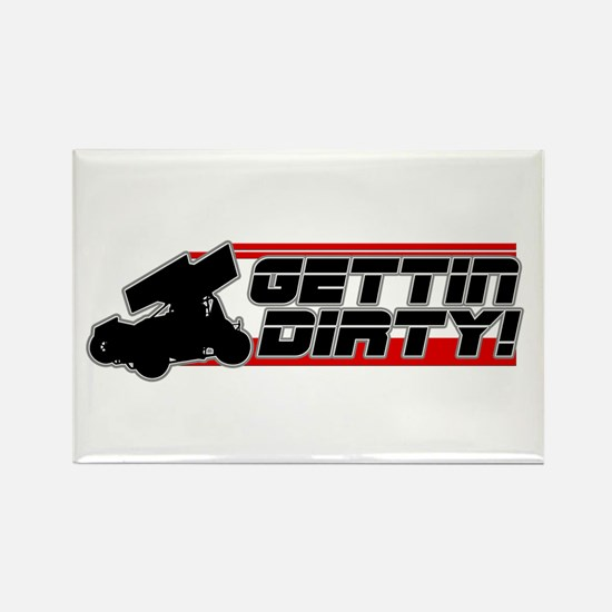 Gettin Dirty -Red Rectangle Magnet