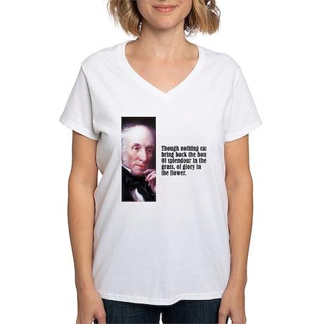 """Wordsworth """"Splendour"""" Women's V-Neck T-Shirt"""