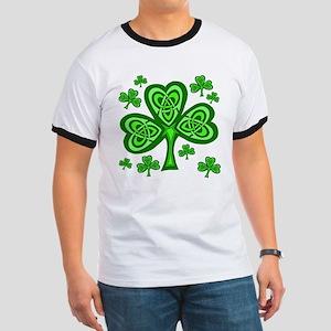 Celtic Shamrocks Ringer T