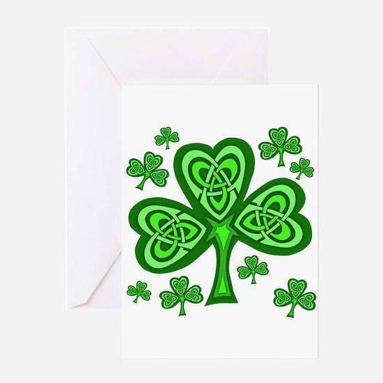 Celtic Shamrocks Greeting Card
