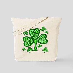 Celtic Shamrocks Tote Bag