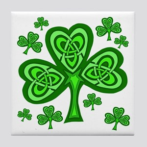 Celtic Shamrocks Tile Coaster