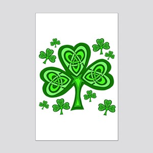 Celtic Shamrocks Mini Poster Print