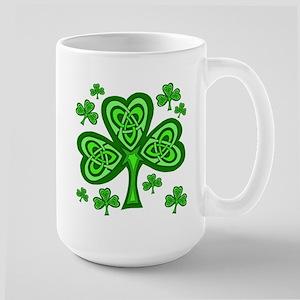 Celtic Shamrocks Large Mug