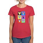 Pitbull Warhol Style Women's Dark T-Shirt