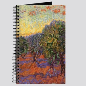 Van Gogh Olive Grove Orange Sky Journal