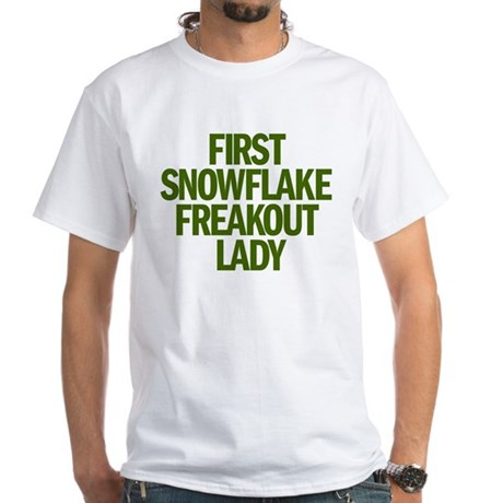 FIRST SNOWFLAKE FREAKOUT LADY White T-Shirt