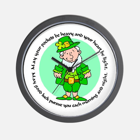 Lucky Leprechaun Wall Clock