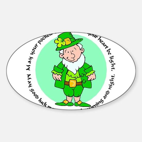 Lucky Leprechaun Oval Decal