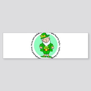 Lucky Leprechaun Bumper Sticker