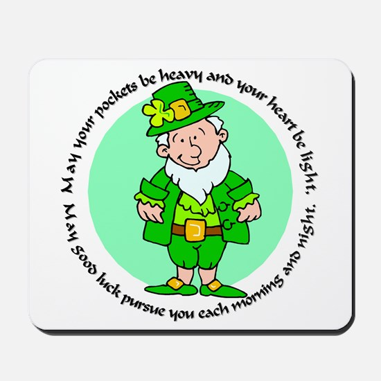 Lucky Leprechaun Mousepad