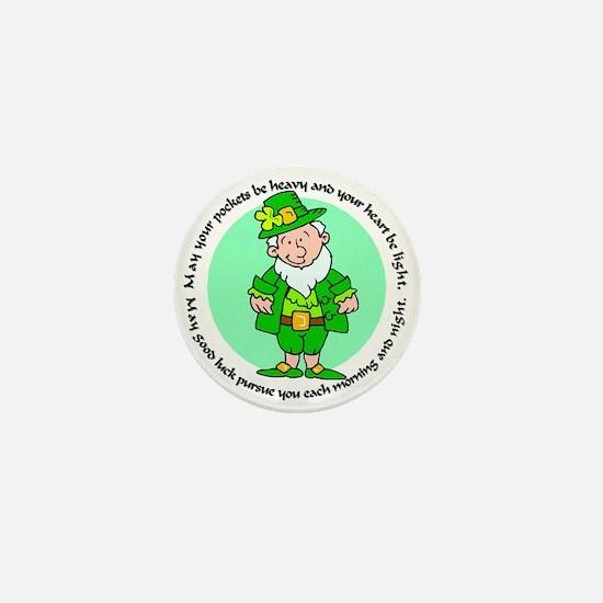 Lucky Leprechaun Mini Button