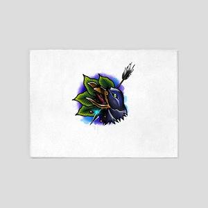 Raven Tattoo 5'x7'Area Rug