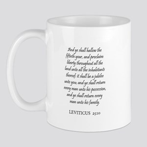 LEVITICUS  25:10 Mug