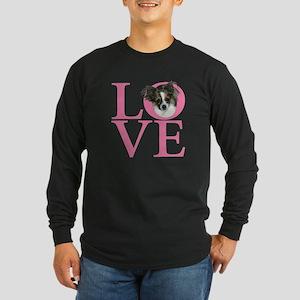 Long Hair Love Long Sleeve Dark T-Shirt