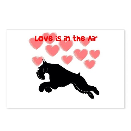 schnauzer love Postcards (Package of 8)