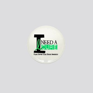 I Need A Cure CELIAC DISEASE Mini Button