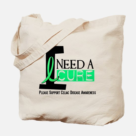 I Need A Cure CELIAC DISEASE Tote Bag