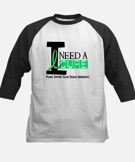 I Need A Cure CELIAC DISEASE Kids Baseball Jersey