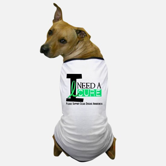 I Need A Cure CELIAC DISEASE Dog T-Shirt