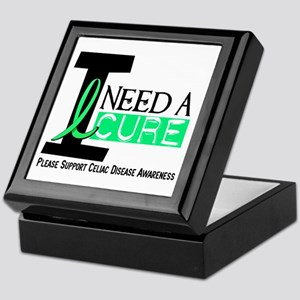 I Need A Cure CELIAC DISEASE Keepsake Box