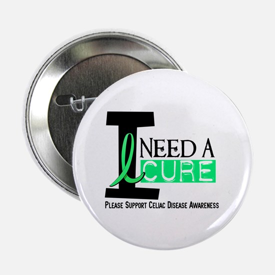 "I Need A Cure CELIAC DISEASE 2.25"" Button (10 pack"