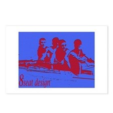 blue red rowers Postcards (Package of 8)