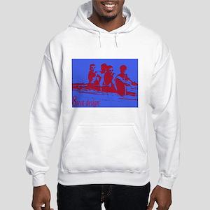 blue red rowers Hooded Sweatshirt