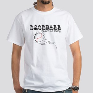 Baseball Throw One Today White T-Shirt