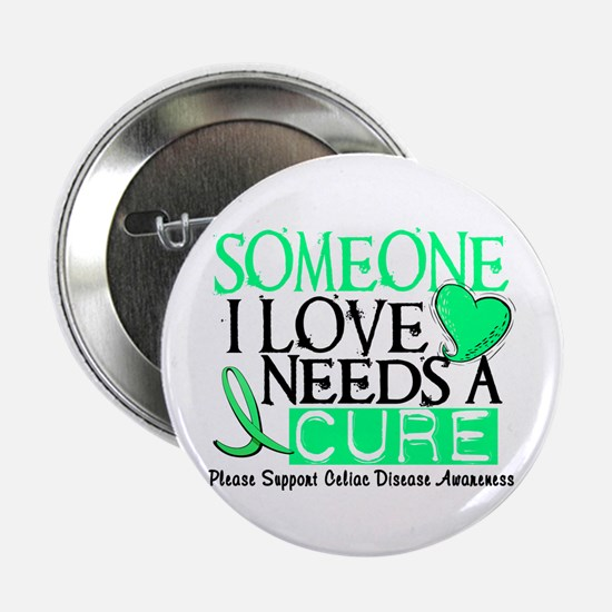 "Needs A Cure CELIAC DISEASE 2.25"" Button (10 pack)"