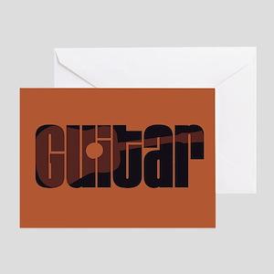 Acoustic Guitar Rust Greeting Card