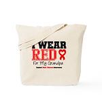 I Wear Red Grandpa Tote Bag