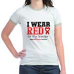 I Wear Red Grandpa Jr. Ringer T-Shirt